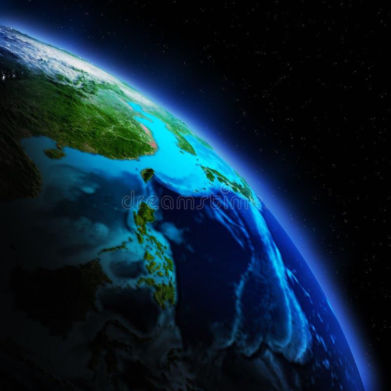 Γήινη ήπειρος ελεύθερη απεικόνιση δικαιώματος