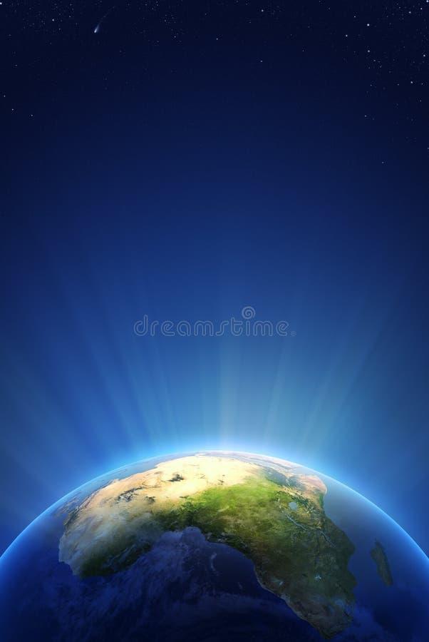 Γήινη ακτινοβόλος ελαφριά σειρά - Αφρική απεικόνιση αποθεμάτων