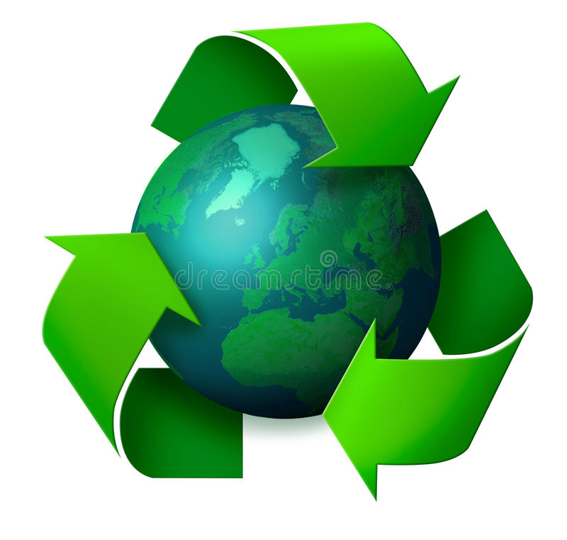 γήινη ανακύκλωση έννοιας απεικόνιση αποθεμάτων