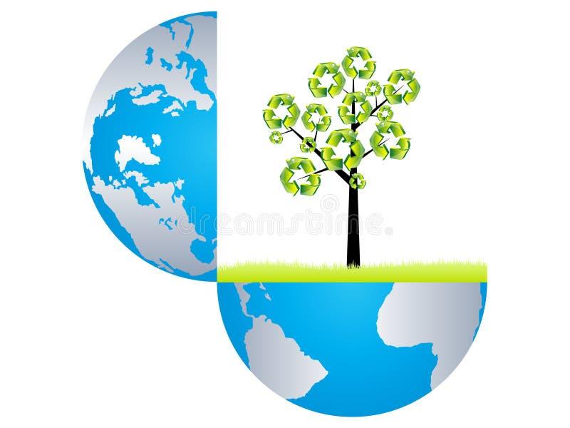 γήινη ανακύκλωση διανυσματική απεικόνιση