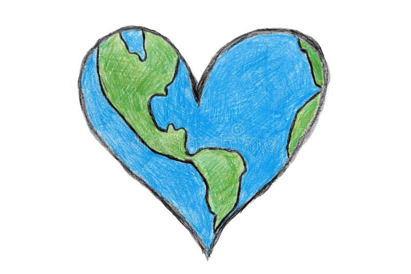 Γήινη καρδιά διανυσματική απεικόνιση