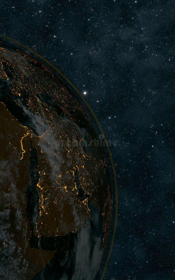 Γήινη νύχτα στοκ εικόνα με δικαίωμα ελεύθερης χρήσης
