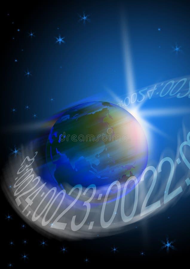 γήινη περιστροφή ελεύθερη απεικόνιση δικαιώματος