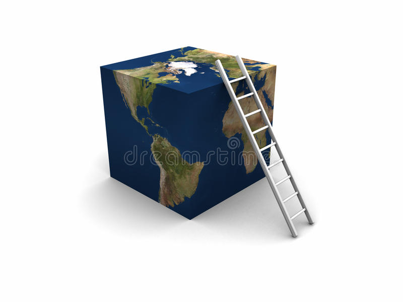 γήινη σκάλα κύβων ελεύθερη απεικόνιση δικαιώματος