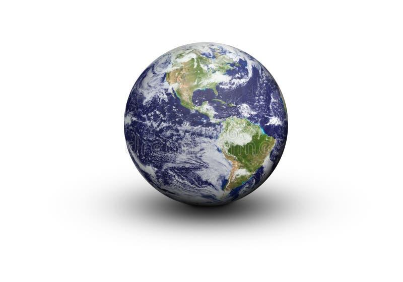 Γήινη σφαίρα - ο Βορράς και Νότια Αμερική διανυσματική απεικόνιση