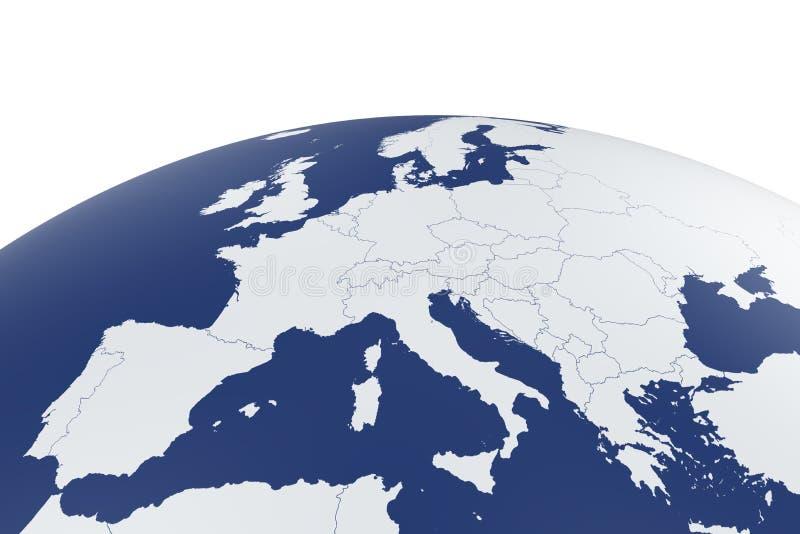 Γήινη σφαίρα χαρτών της Ευρώπης ελεύθερη απεικόνιση δικαιώματος