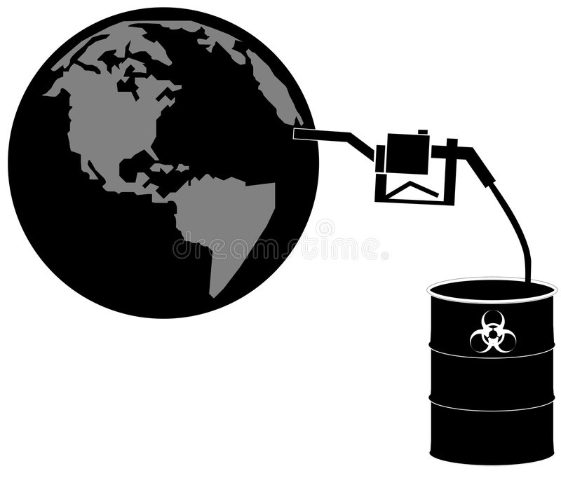 γήινη τροφοδότηση με καύσιμα biohazards απεικόνιση αποθεμάτων
