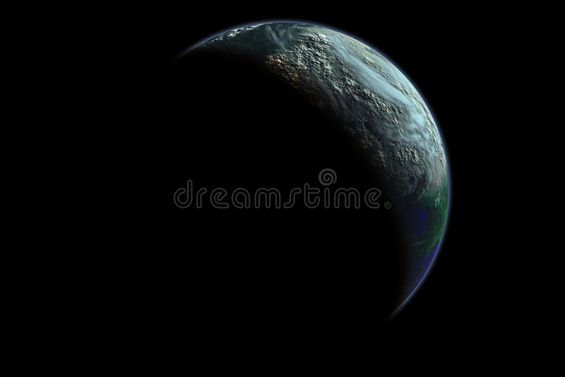 γήινος πλανήτης αυγής διανυσματική απεικόνιση