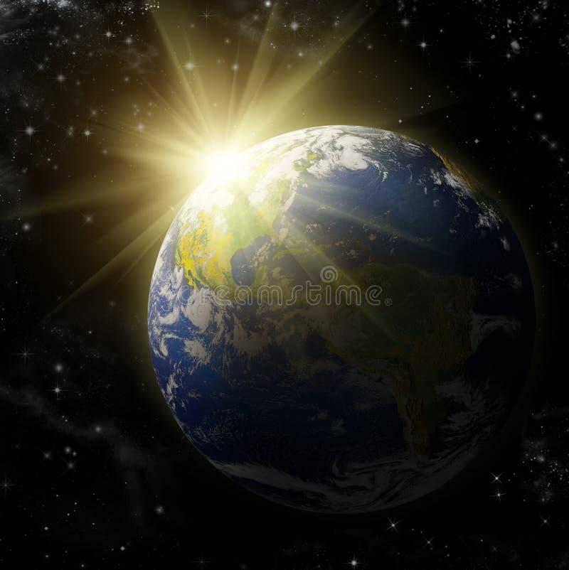 γήινος πλανήτης πραγματι&kappa διανυσματική απεικόνιση