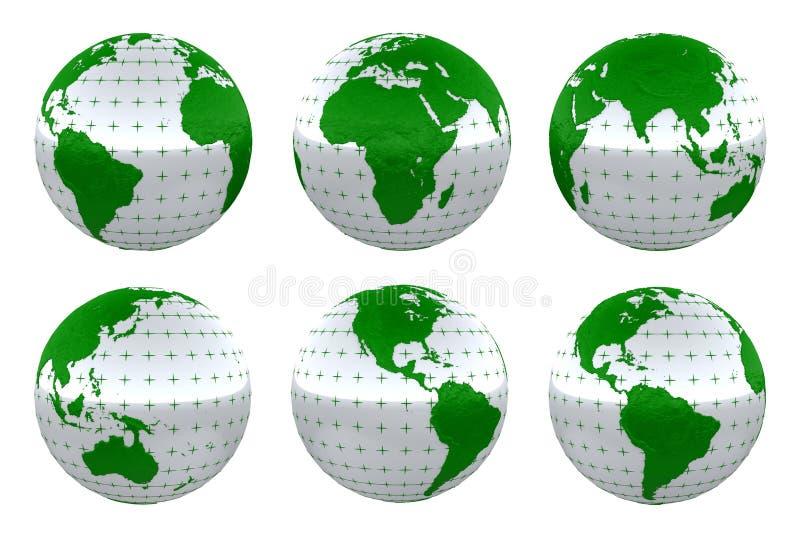 γήινος πράσινος πλανήτης ελεύθερη απεικόνιση δικαιώματος
