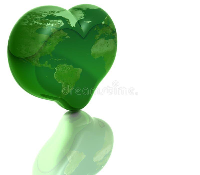 γήινος πράσινος πλανήτης απεικόνιση αποθεμάτων