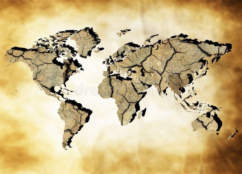 Γήινος χάρτης στοκ εικόνα με δικαίωμα ελεύθερης χρήσης