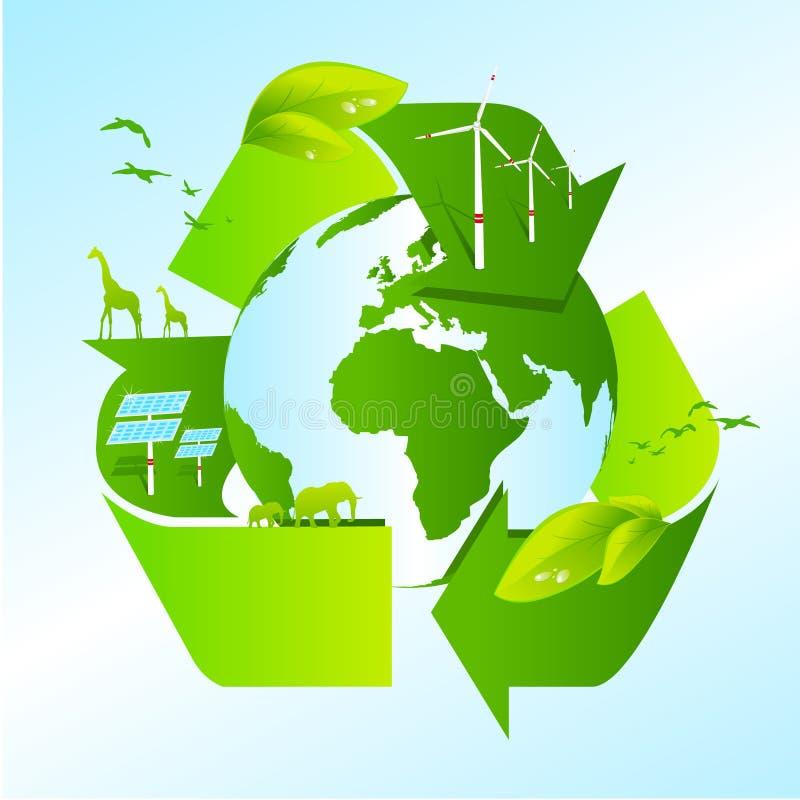 γήινο ανακύκλωσης διάνυ&sigma ελεύθερη απεικόνιση δικαιώματος