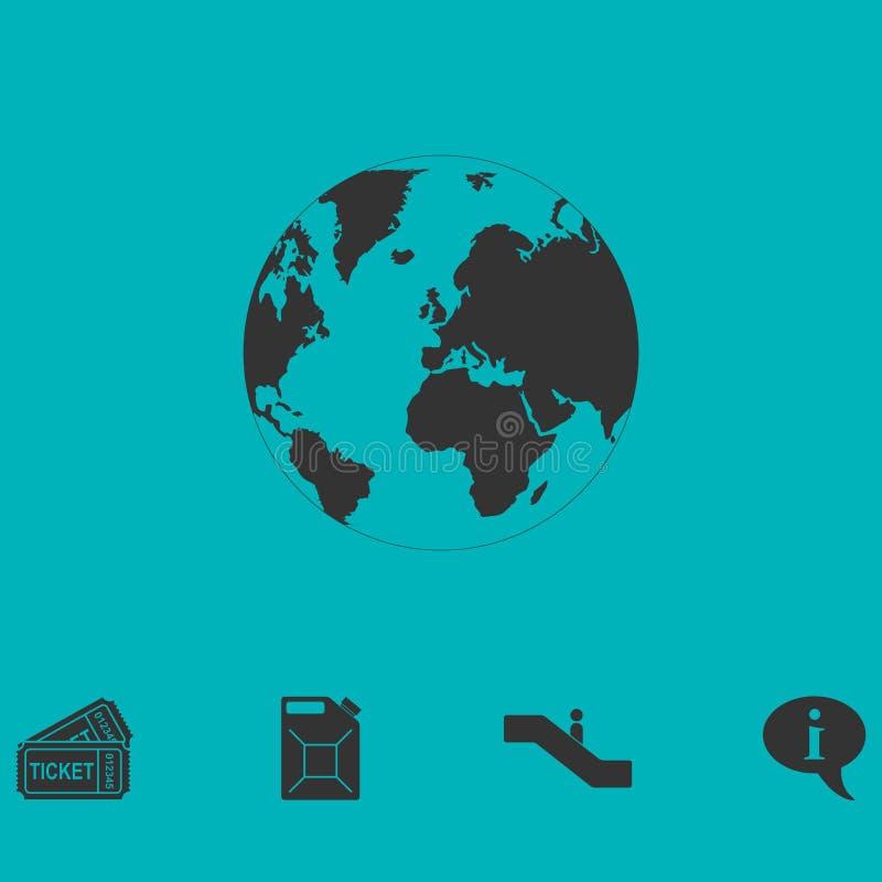 Γήινο εικονίδιο επίπεδο απεικόνιση αποθεμάτων