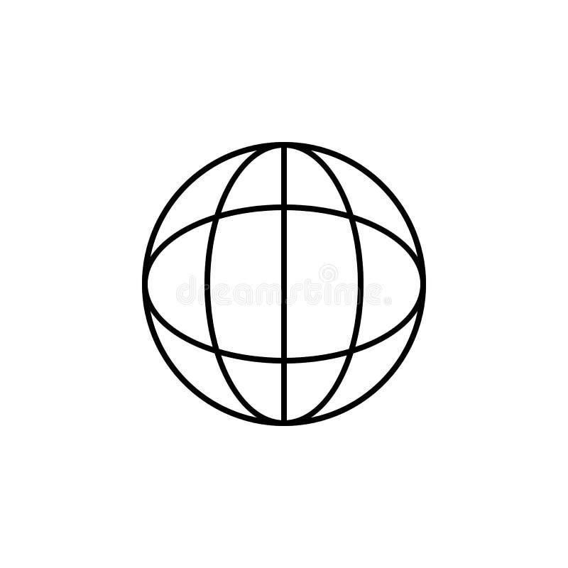 γήινο εικονίδιο Στοιχείο του απλού εικονιδίου για τους ιστοχώρους, σχέδιο Ιστού, κινητό app, γραφική παράσταση πληροφοριών Λεπτό  απεικόνιση αποθεμάτων