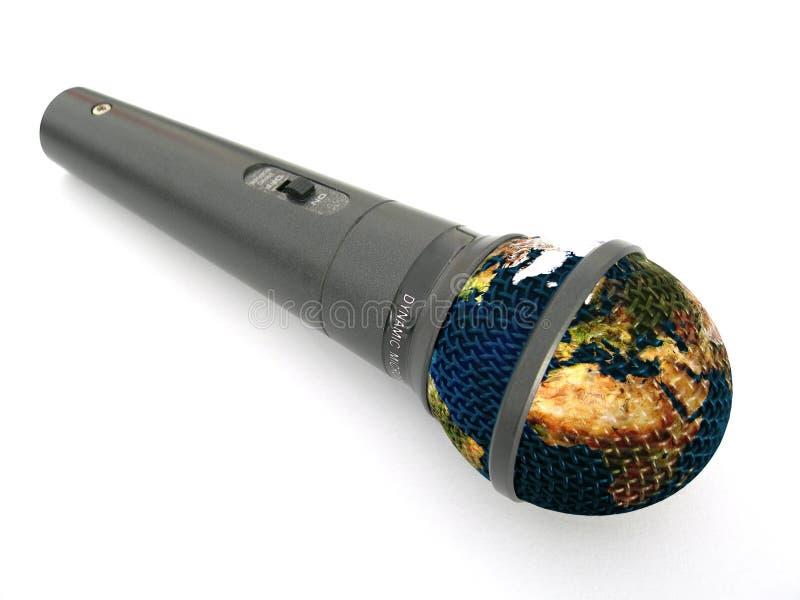 γήινο μικρόφωνο στοκ φωτογραφία με δικαίωμα ελεύθερης χρήσης