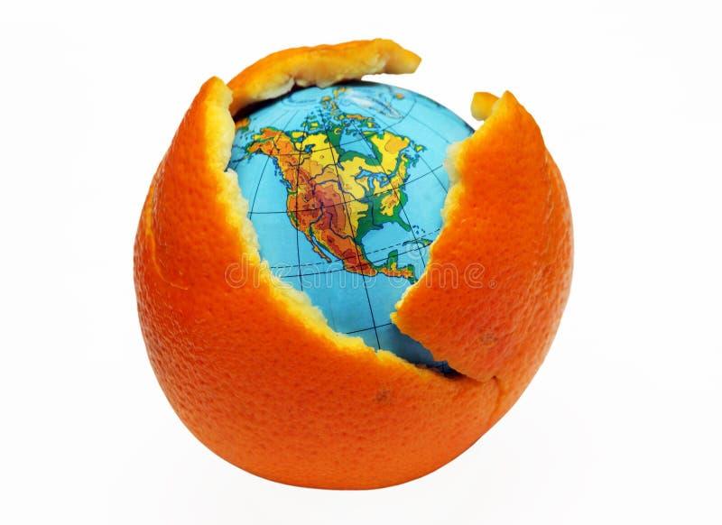 γήινο πορτοκάλι στοκ φωτογραφίες