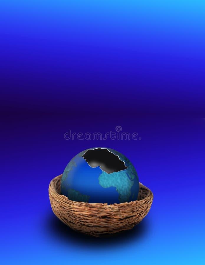 γήινο eggshell ελεύθερη απεικόνιση δικαιώματος