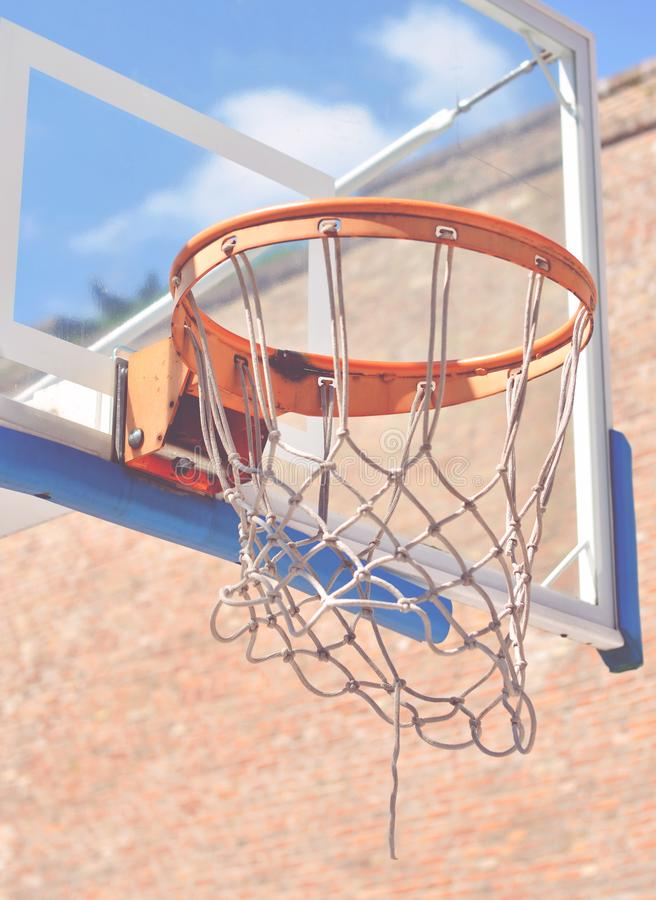 Γήπεδο μπάσκετ υπαίθρια στοκ φωτογραφία