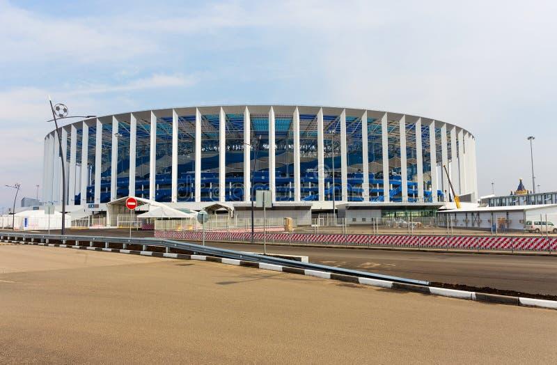 Γήπεδο ποδοσφαίρου σε Nizhny Novgorod στη FIFA 2018 στοκ εικόνα
