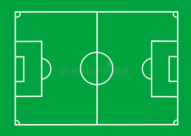 Γήπεδο ποδοσφαίρου διανυσματική απεικόνιση