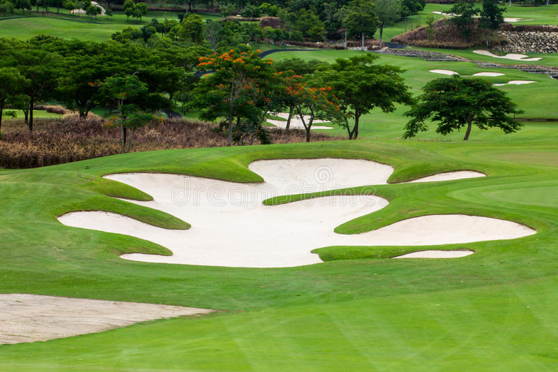 Γήπεδα του γκολφ στοκ φωτογραφίες με δικαίωμα ελεύθερης χρήσης