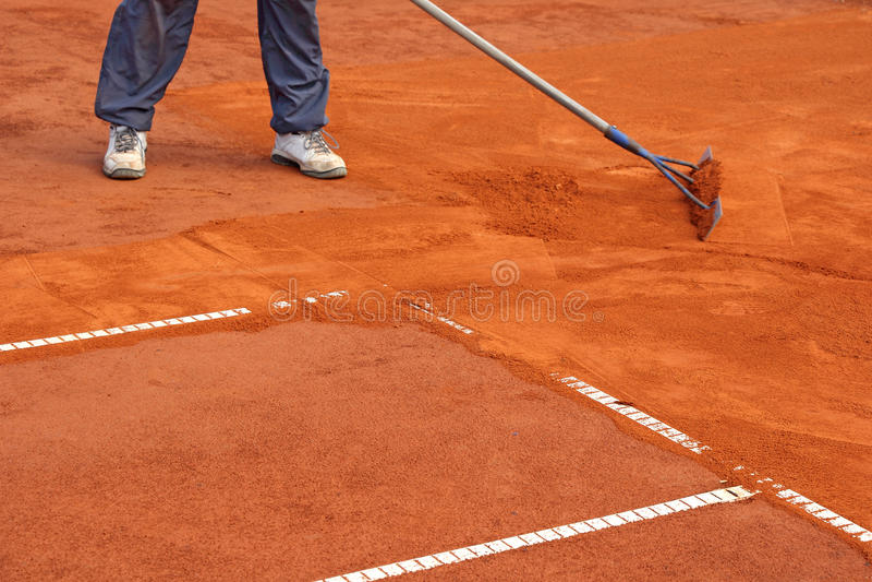 Γήπεδο αντισφαίρισης προετοιμασιών στοκ φωτογραφία με δικαίωμα ελεύθερης χρήσης