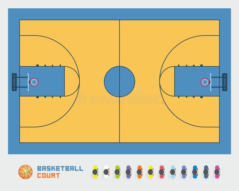 γήπεδο μπάσκετ εάν απεικόνιση απεικόνιση αποθεμάτων