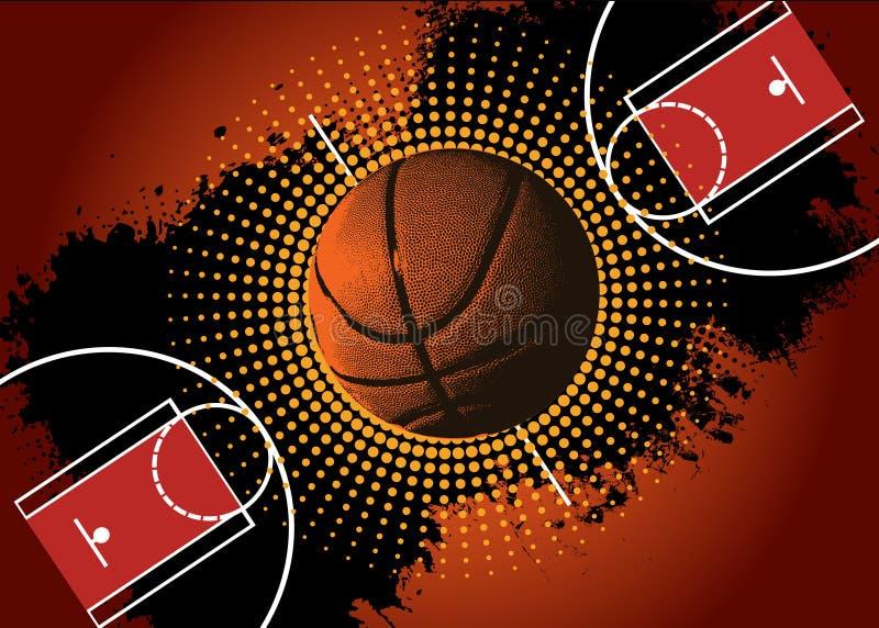 Γήπεδο μπάσκετ ελεύθερη απεικόνιση δικαιώματος
