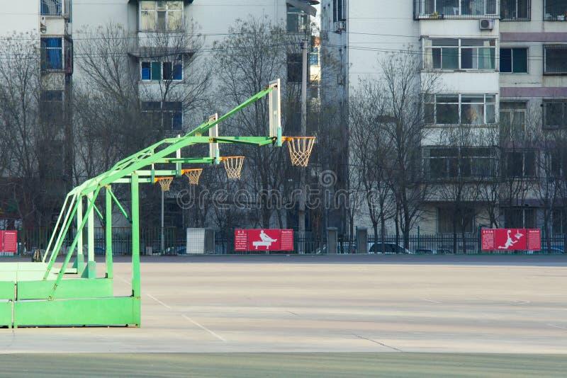 Γήπεδο μπάσκετ στοκ φωτογραφία με δικαίωμα ελεύθερης χρήσης