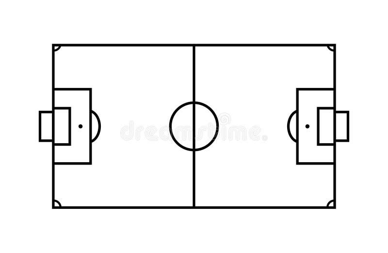 Γήπεδο ποδοσφαίρου περιλήψεων ελεύθερη απεικόνιση δικαιώματος