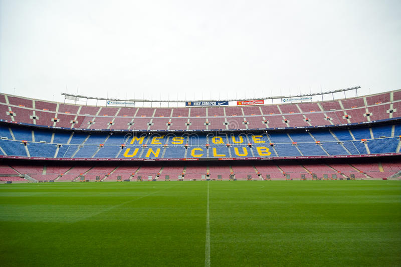 Γήπεδο ποδοσφαίρου στρατόπεδων Nou Βαρκελώνη Καταλωνία Ισπανία στοκ φωτογραφία με δικαίωμα ελεύθερης χρήσης