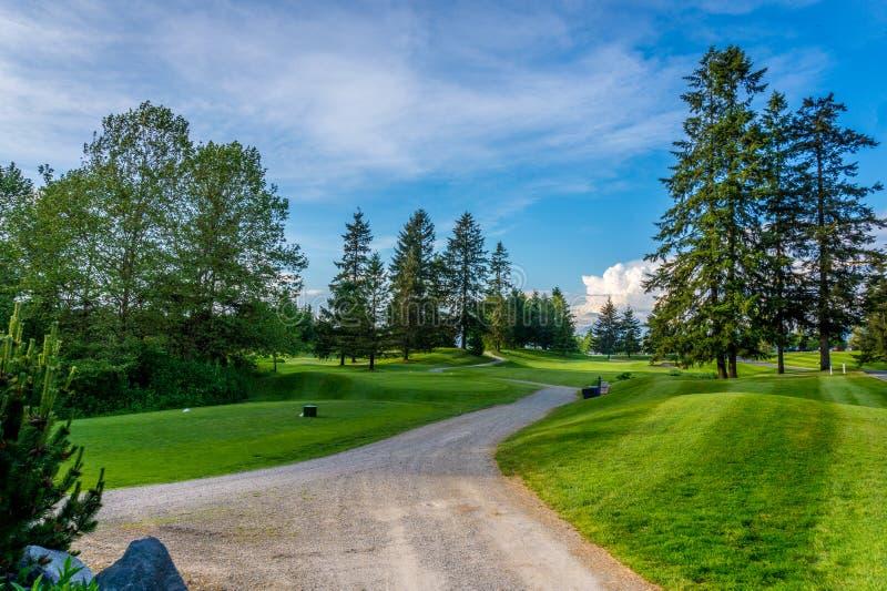 Γήπεδο του γκολφ κοντά στο οχυρό Langley στοκ φωτογραφία