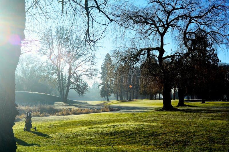 Γήπεδο του γκολφ στοκ φωτογραφίες με δικαίωμα ελεύθερης χρήσης