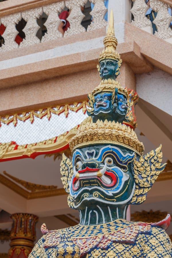 Γίγαντας στο ναό της Ταϊλάνδης στοκ εικόνες με δικαίωμα ελεύθερης χρήσης