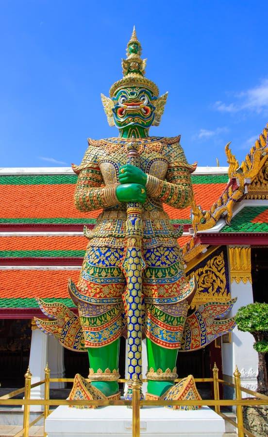 Γίγαντας Wat Phra Kaew, Μπανγκόκ Ταϊλάνδη. στοκ φωτογραφία