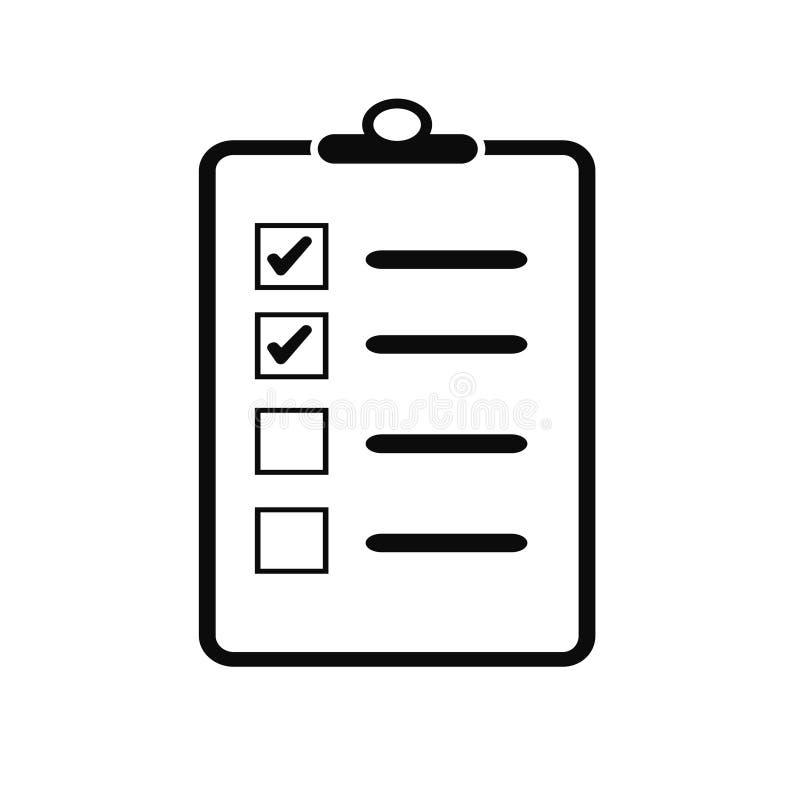 Γίνοντας κατάλογος καταλόγων ελέγχου εικονιδίων γραμμών ελεύθερη απεικόνιση δικαιώματος