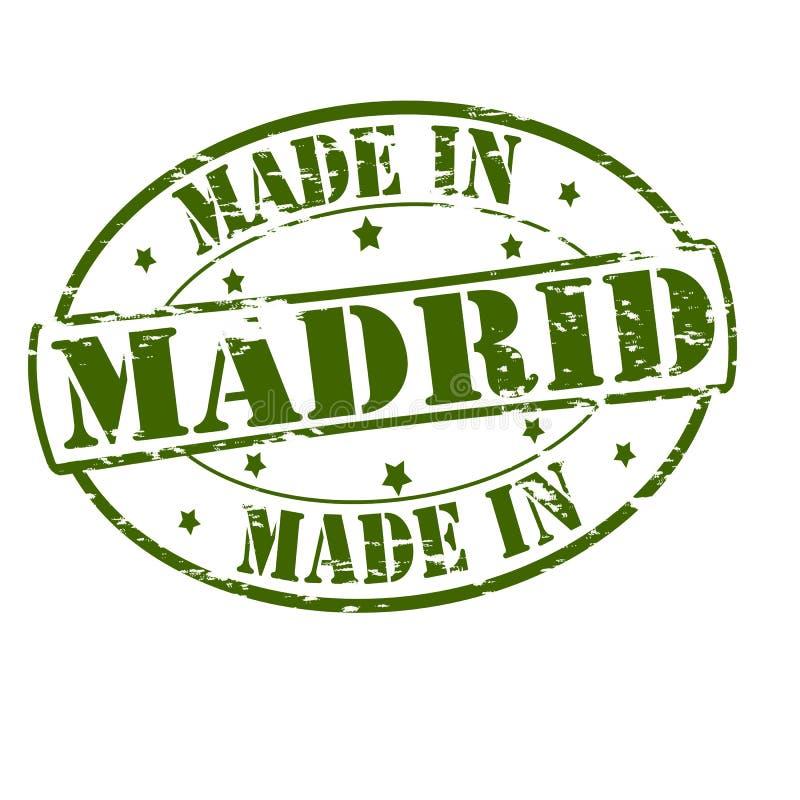 Γίνοντας στη Μαδρίτη διανυσματική απεικόνιση