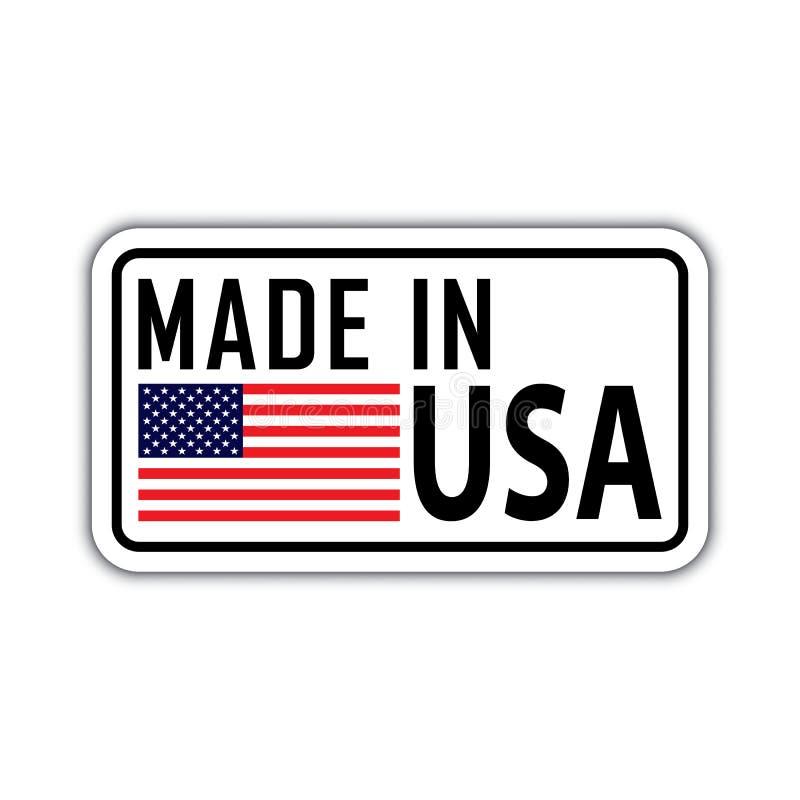 Γίνοντας στο αμερικανικό διακριτικό με τη αμερικανική σημαία διανυσματική απεικόνιση
