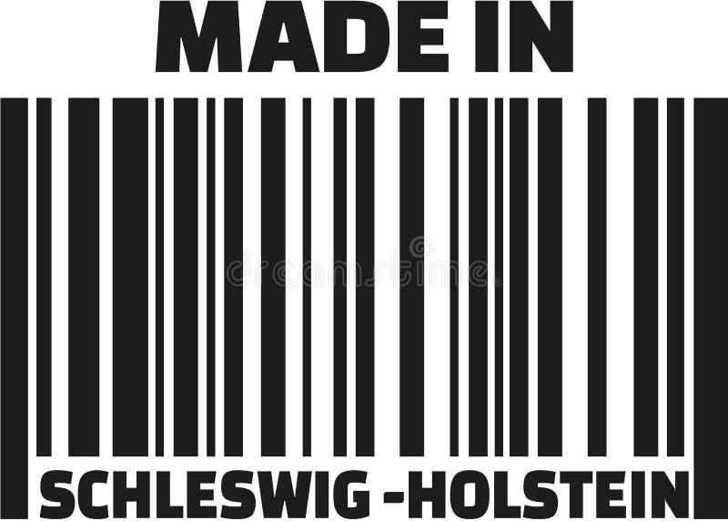 Γίνοντας στο γραμμωτό κώδικα γερμανικά του Σλέσβιχ-Χολστάιν απεικόνιση αποθεμάτων