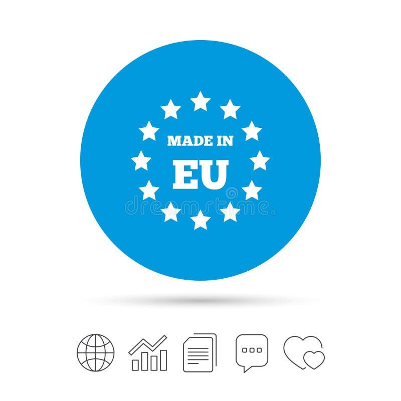 Γίνοντας στο εικονίδιο της ΕΕ Σύμβολο παραγωγής εξαγωγής διανυσματική απεικόνιση