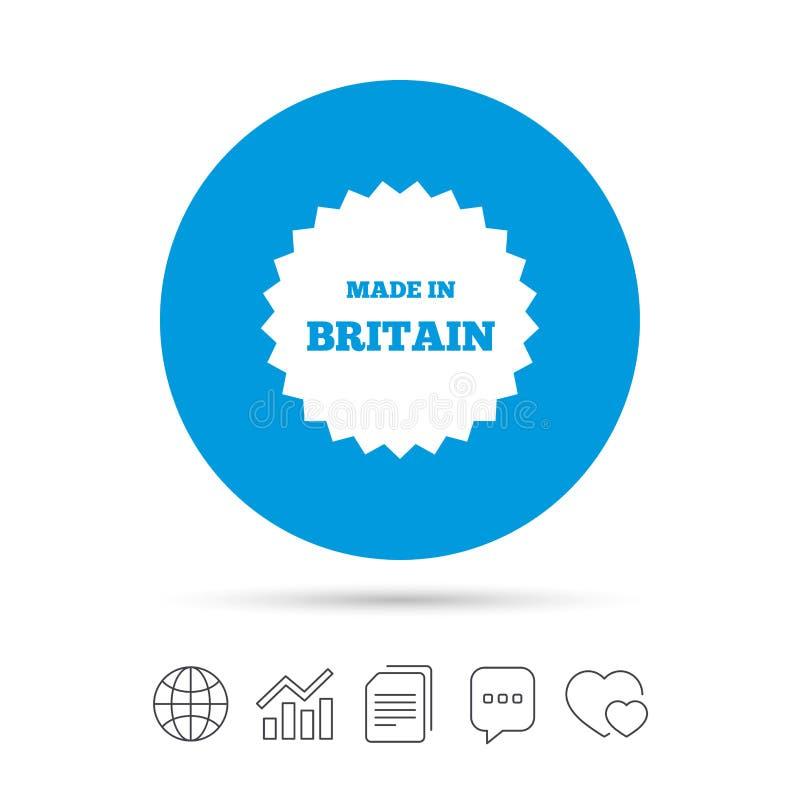 Γίνοντας στο εικονίδιο της Μεγάλης Βρετανίας Σύμβολο παραγωγής εξαγωγής ελεύθερη απεικόνιση δικαιώματος