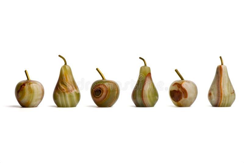 γίνοντα ιάσπιδα αχλάδια ομάδας μήλων στοκ φωτογραφίες