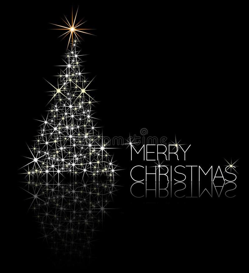 γίνοντα Χριστούγεννα δέντρο σπινθηρισμάτων διανυσματική απεικόνιση