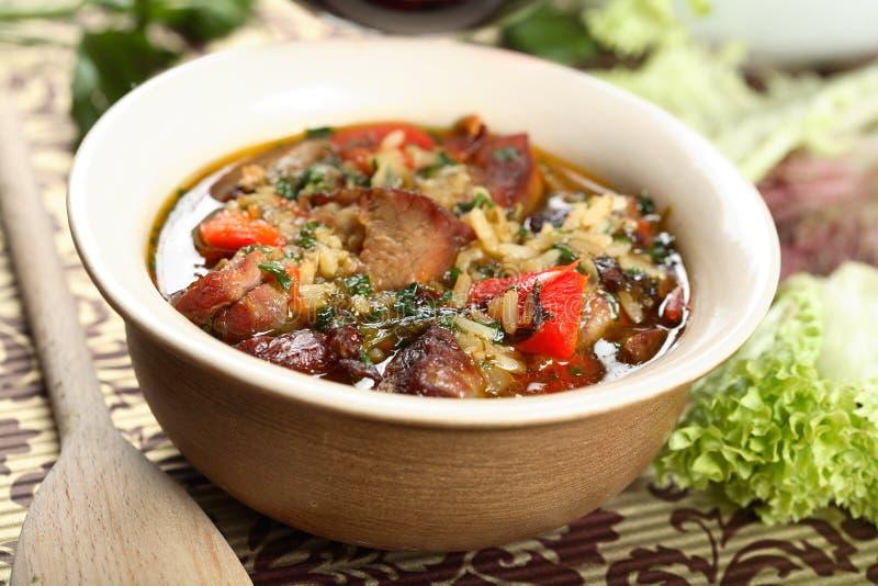 γίνοντα goulash μοσχαρίσιο κρέα&si στοκ εικόνες