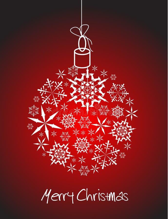 γίνοντα snowflakes σφαιρών Χριστούγ απεικόνιση αποθεμάτων