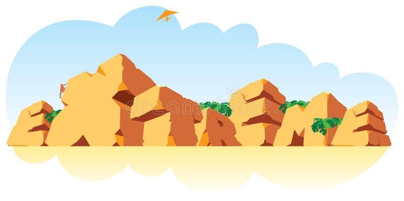 γίνοντη ενιαία λέξη πετρών α&lam διανυσματική απεικόνιση