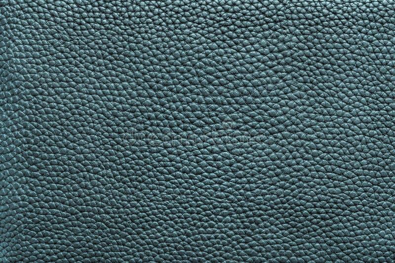 Γαλαζοπράσινη σκοτεινή σύσταση του υλικού δέρματος στοκ φωτογραφία με δικαίωμα ελεύθερης χρήσης