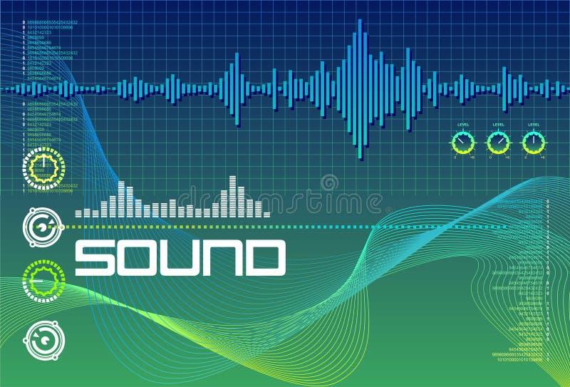 γαλαζοπράσινος ήχος ερ&ga ελεύθερη απεικόνιση δικαιώματος