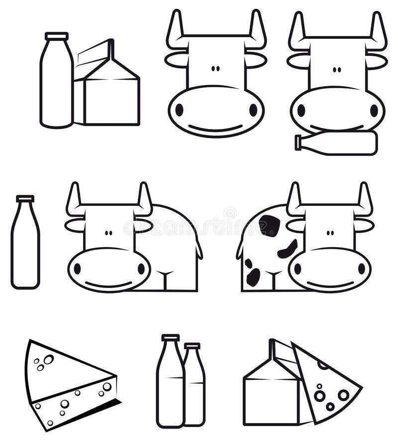 γαλακτοκομικά τρόφιμα α&gam ελεύθερη απεικόνιση δικαιώματος